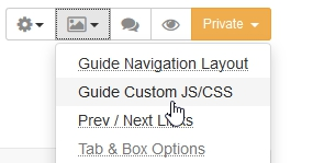 Adding to the guide's custom CSS